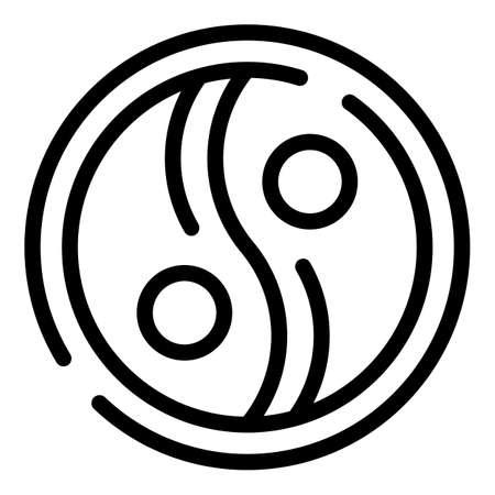 Ying yang amulet icon, outline style