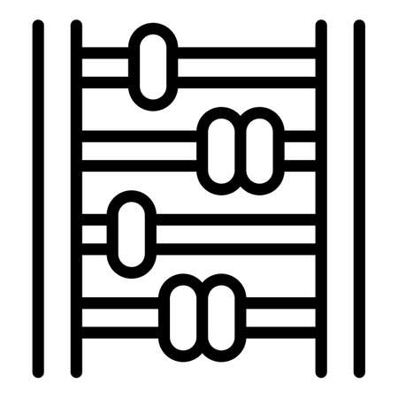 Traditional abacus icon, outline style