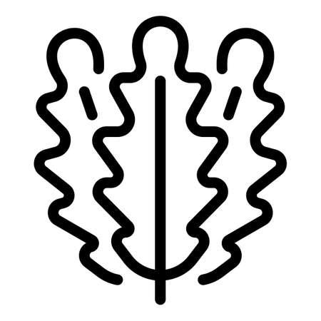Kitchen arugula icon, outline style