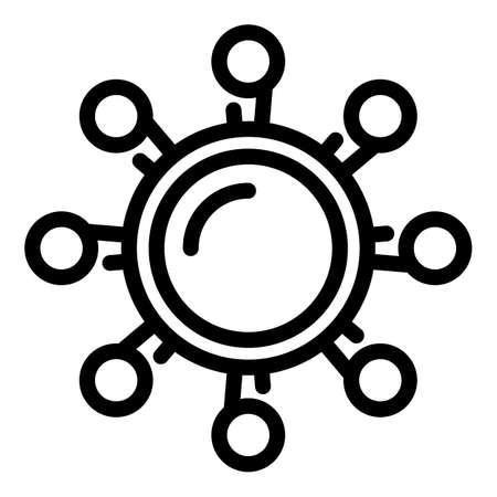 Bulgaricus microorganism icon, outline style