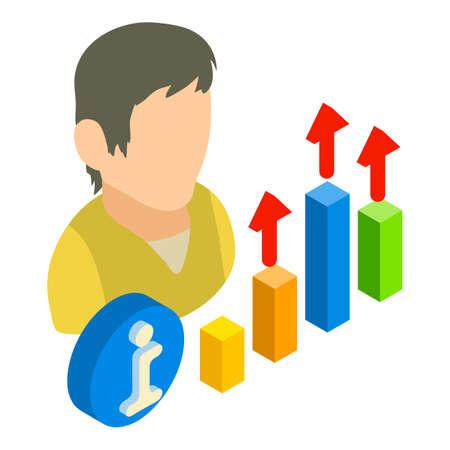 Growth optimization icon, isometric style
