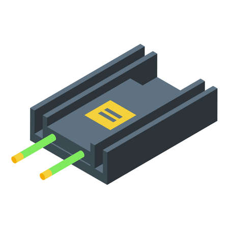 Voltage regulator appliance icon, isometric style
