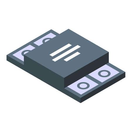 Voltage regulator protection icon, isometric style