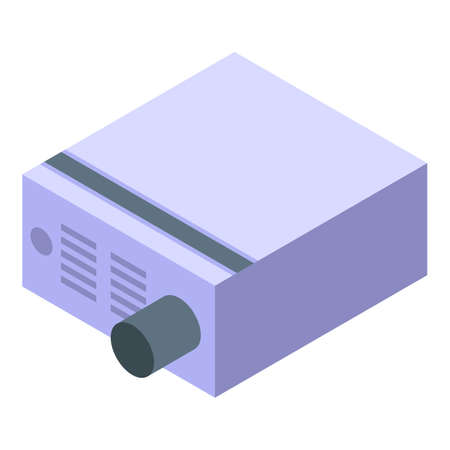 Voltage regulator box icon, isometric style