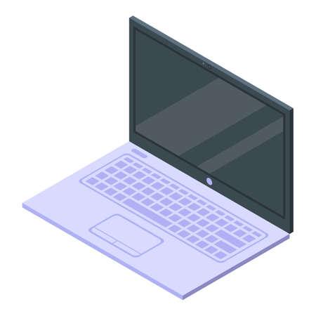Laptop monitor icon, isometric style Illustration
