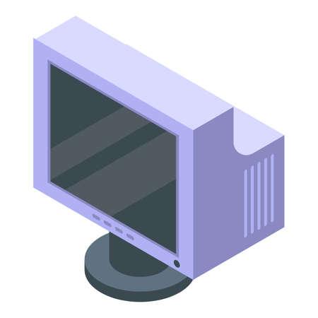 Flatron monitor icon, isometric style Ilustrace