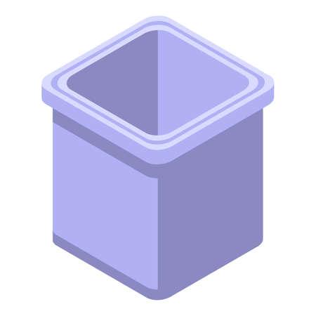 Ice cube form icon, isometric style
