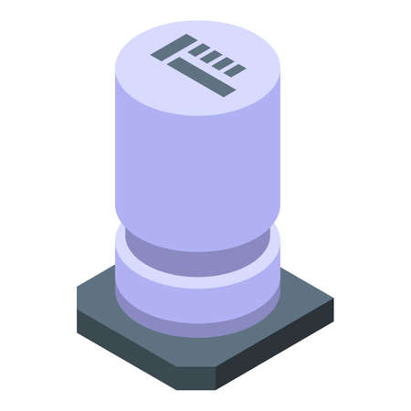 Element capacitor icon, isometric style