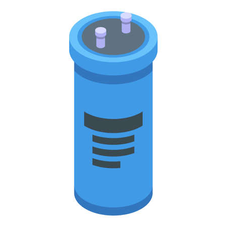 Business capacitor icon, isometric style