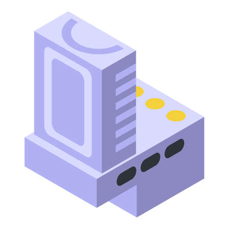 Component capacitor icon, isometric style