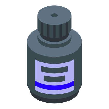 Calligraphy ink jar icon, isometric style Illustration