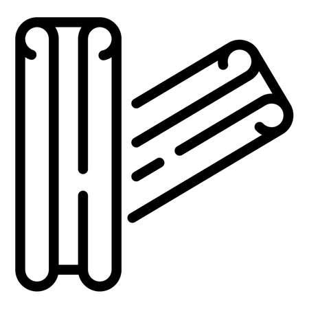 Organic cinnamon spice icon, outline style Imagens - 157281506