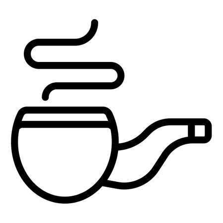 Retro smoking pipe icon, outline style