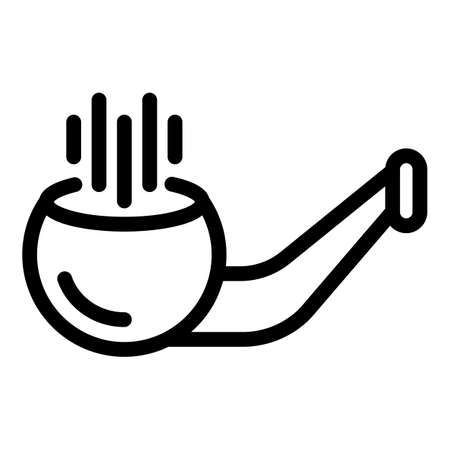 Equipment smoking pipe icon, outline style Stock fotó - 157241049