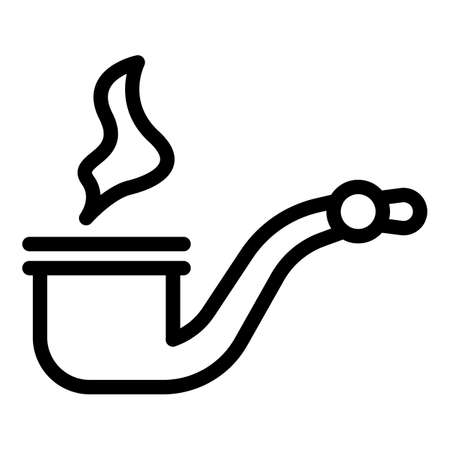 Personal smoking pipe icon, outline style 向量圖像
