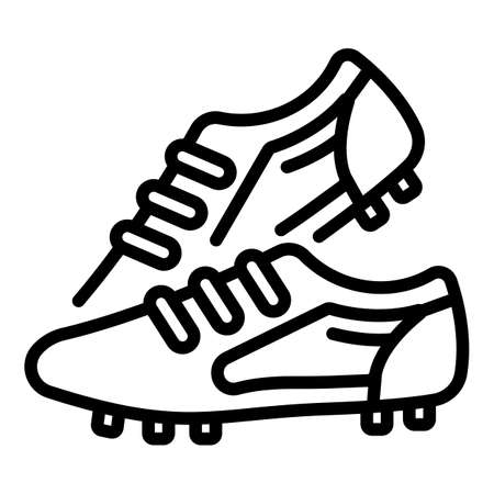 Competition football boots icon, outline style 向量圖像