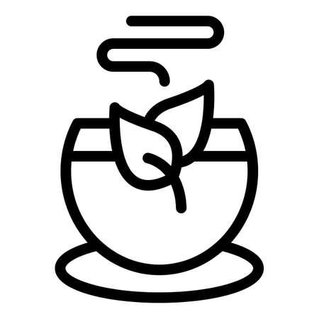 Tea icon, outline style