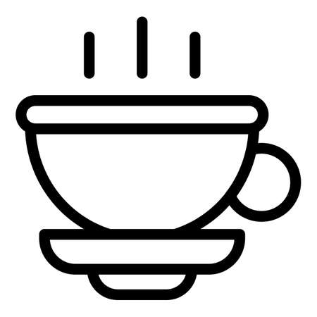 Beverage tea cup icon, outline style