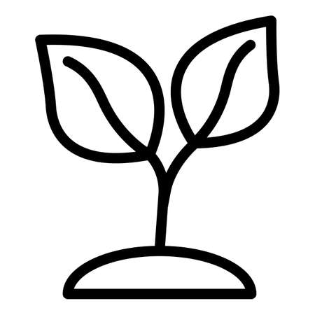 Tea plant icon, outline style Vettoriali