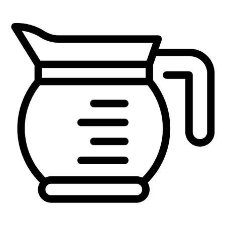 Tea glass jug icon, outline style