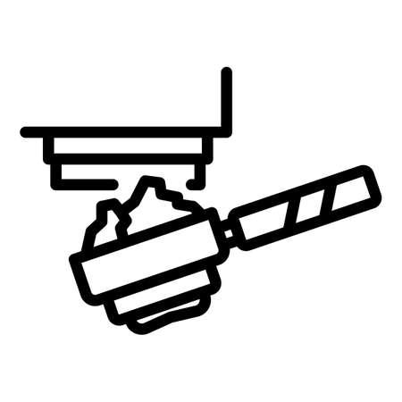 Coffee powder icon, outline style Vettoriali