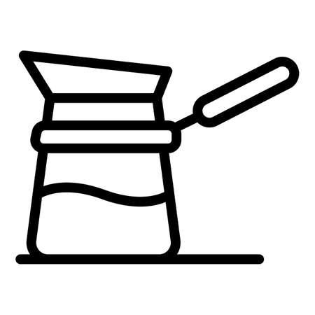 Moka pot icon, outline style