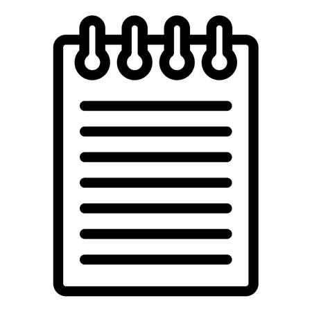 Story scenario icon, outline style Illustration