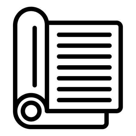 Film scenario script icon, outline style