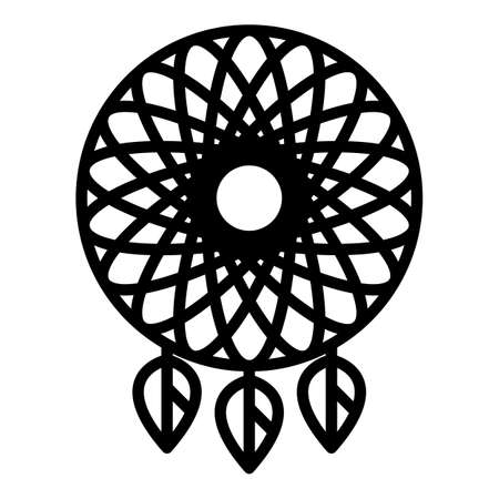 Indian dream catcher icon, outline style