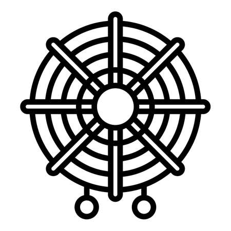 Ancient dream catcher icon, outline style Ilustracja