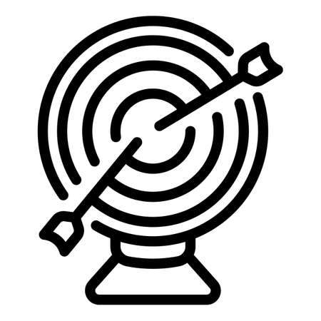 Target idea icon, outline style