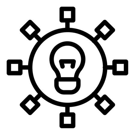 Idea generation icon, outline style