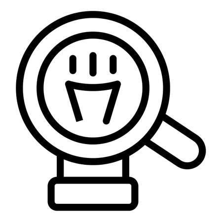 Magnifying idea icon, outline style 矢量图像