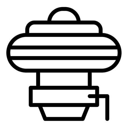 Pool device icon, outline style Illusztráció