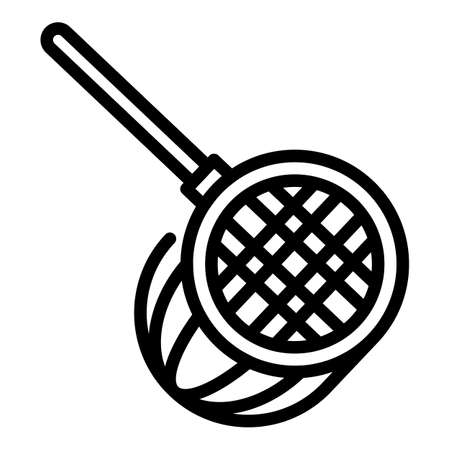 Pool net icon, outline style