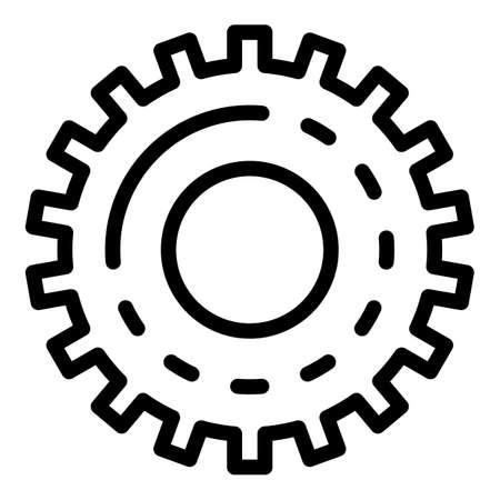 Gear tool icon, outline style