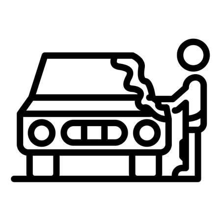 Washing car icon, outline style Ilustração