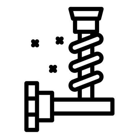 Car part icon, outline style