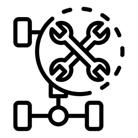 Repair car frame icon, outline style