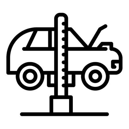 Repair car icon, outline style 矢量图像