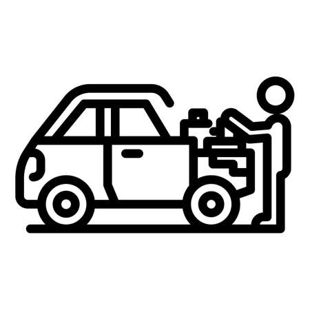 Car mechanic icon, outline style