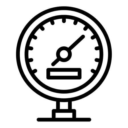 Speedometer icon, outline style Illustration