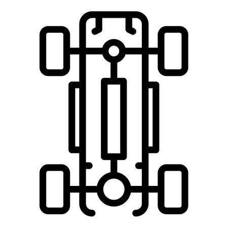 Car wheels base icon, outline style