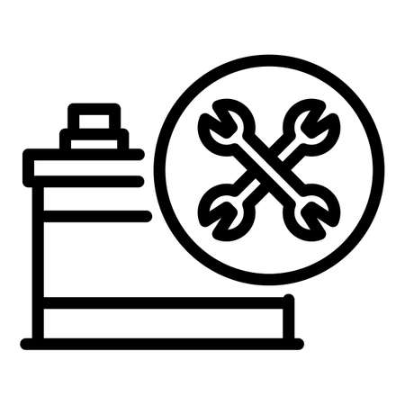 Repair car battery icon, outline style Banque d'images - 157797304