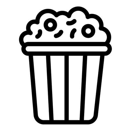 Popcorn pack icon, outline style