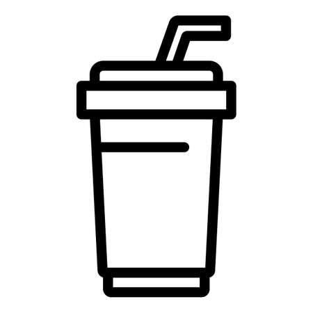 Soda cinema icon, outline style
