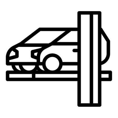 Car lift icon, outline style