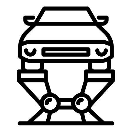 Hydraulic car lift icon, outline style Ilustrace