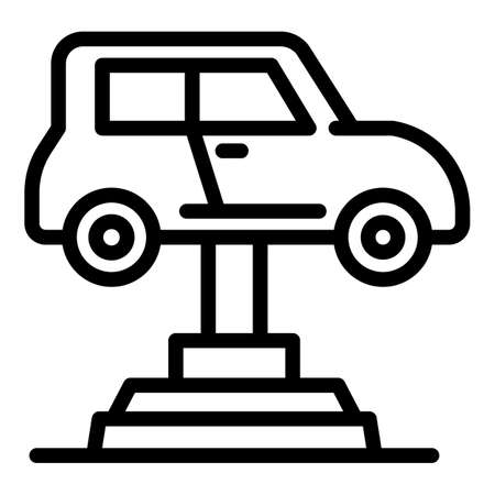 Garage car lift icon, outline style