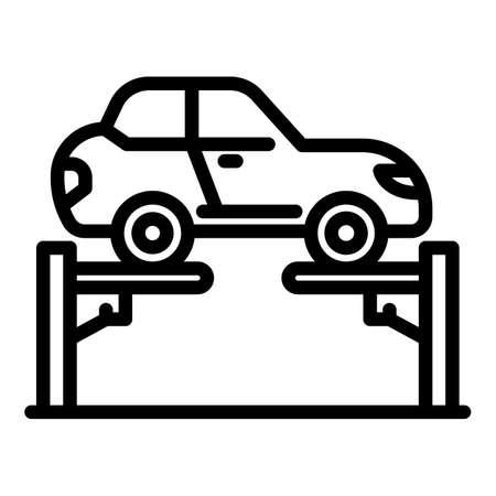 Auto elevator icon, outline style